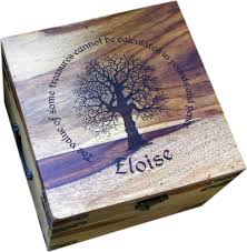 engraved memory box medium personalised memory box 10 x 10 x 6 5 personalised memory