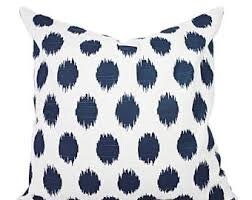 Navy Blue Decorative Pillows 15 Off Sale Navy Blue Pillow Covers Two Navy Ikat Throw