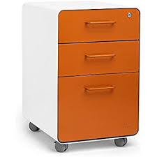 Orange Filing Cabinet Belham Living Mid Century Modern Two Drawer