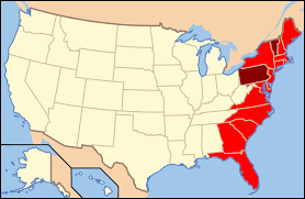 Map Of East Usa by File Map Of Usa Eastcoast Svg Wikimedia Commons