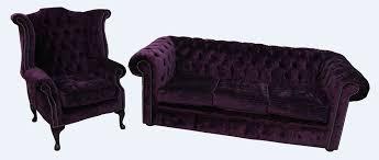 Aubergine Armchair Chesterfield 3 Seater Sofa Queen Anne Chair Modena Aubergine