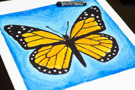 pastel project monarch butterfly for hub