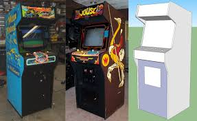 Make Your Own Arcade Cabinet by Building A Home Arcade Machine Cabinet Design Retromash