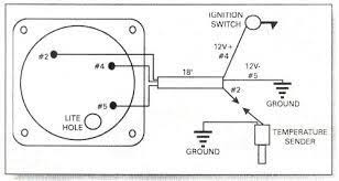 water temperature gauge wiring diagram