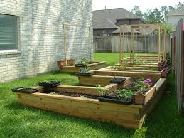 decor u0026 tips outdoor design with raised vegetable beds and lawn