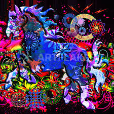 pattern art famous abstract dream design horse digital art art prints and posters by