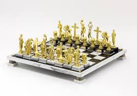 rocklen ry trophy modern chess set basketball chess sets