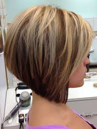 medium length stacked bob hairstyles back view of medium length bob hairstyle