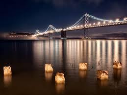 Bay Bridge Lights Bridges Oakland Bay Bridge Night Lights Usa Photography