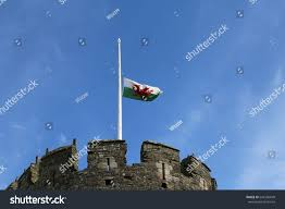 How Old Is The Welsh Flag Half Mast Welsh Flag On Top Stock Photo 644136049 Shutterstock