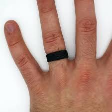 rubber wedding band black rubber wedding ring blushingblonde