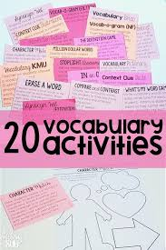 Are you looking to spice up your vocabulary instruction  These vocabulary activities are PERFECT for