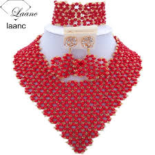 red crystal bead necklace images Buy laanc brand fashionable nigerian wedding jpg