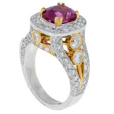 kay jewelers locations pink sapphire diamonds two tone gold ring sbg southbay gold