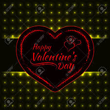valentines day lights happy valentines day yellow lights card heart and text lights