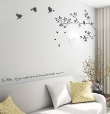 tree of life home decor 80 150cm tree of life bird wall stickers branch birds free shipping