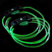 led shoelaces circle punched