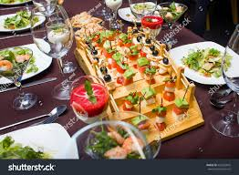 canapé cotta there points salad canape panna cotta stock photo 626592845