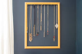 make necklace holder images Easy diy necklace holder to organize your jewelry jpg