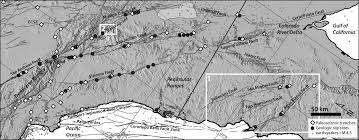 California Fault Map Active Tectonics Projects Behr Research Group