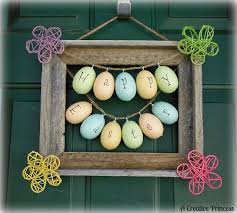 how to make an easter egg wreath craftionary