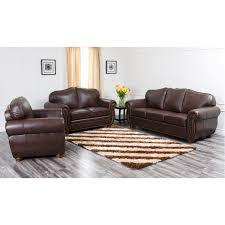 Abbyson Leather Sofa Reviews Abbyson Living Ci D320 Brn 3 2 1 Camelot Premium Italian Leather
