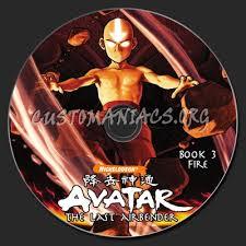 avatar airbender book 3 dvd label dvd covers u0026 labels