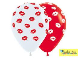 imagenes feliz dia del beso globos de latex r12 corazón besos feliz día mami paq 10uni bs