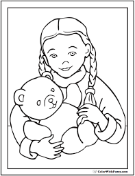 holidays coloring pages teddy bear alltoys