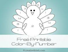 printable thanksgiving turkey color number printable coloring