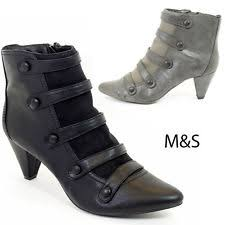 womens boots marks and spencer marks and spencer fur ankle boots for ebay