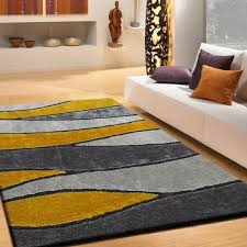rug factory plus living shag 120 gray yellow area rug