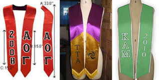 sorority graduation stoles leading vendor of stoles for fraternities and sororities