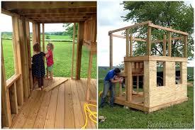 Backyard Playhouse Ideas Diy Playhouse Swing Set Update Part 2 Reality Daydream