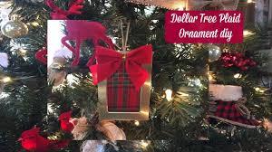 plaid week day 3 dollar tree plaid ornaments diy 2016 youtube