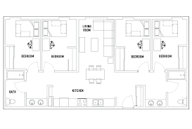4 bed floor plans 4 bed 2 bath the nest student housing chicago il
