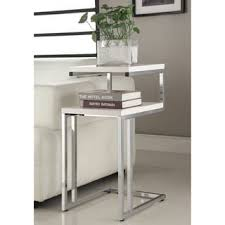 Chrome Bookshelves by Safavieh Modern Glam Malone White Chrome Coffee Table Free