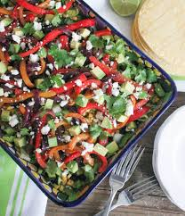 vegetable fajita salad with chipotle vinaigrette domesticate me