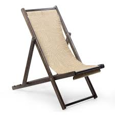 Small Beach Chair Wood And Canvas Adjustable Folding Lounge Chair Small Forest
