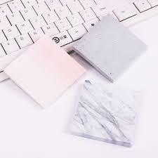 post it sur bureau 1 pc creative marbre couleur auto adhésif memo pad style