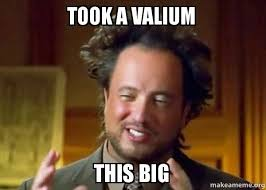 Really Stoned Guy Meme - took a valium this big crazy stoned guy make a meme