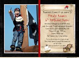 pirate treasure birthday invitation u0026 thank you card