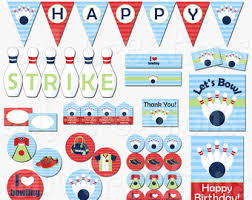 Bowling Party Decorations Camping Birthday Party Printable Decorations Boy Camping