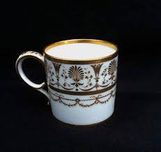 Et Coffee marked 18th 19th century porcelain coffee can c1800 dihl et