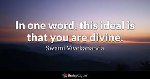 in one word this ideal is that you are swami