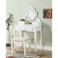 Dresser And Desk Amazon Com 3 Piece Wood Make Up Mirror Vanity Dresser Table And