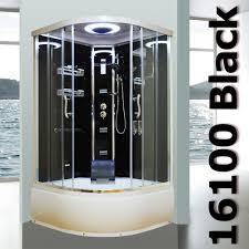 black bathtub shower enclosure 16100 black