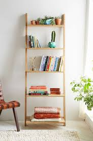Leaning Ladder Bookcase by Furniture Home Leaning Ladder Shelf Leaning Bookcase Modern