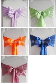 chair sashes satin chair sashes new wedding craft decoration banquet sash craft