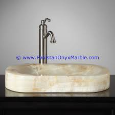 Onyx Vanities Oval Shaped Onyx Stone Sink White Onyx Oval Shaped Vessel Sink
